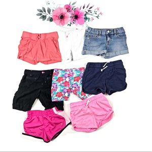 Girls size Small 6/7 lot of summer Shorts 8 pairs